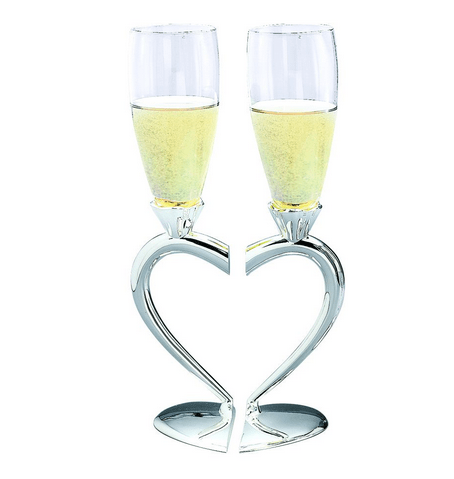 Heart Shaped Wedding Goblets