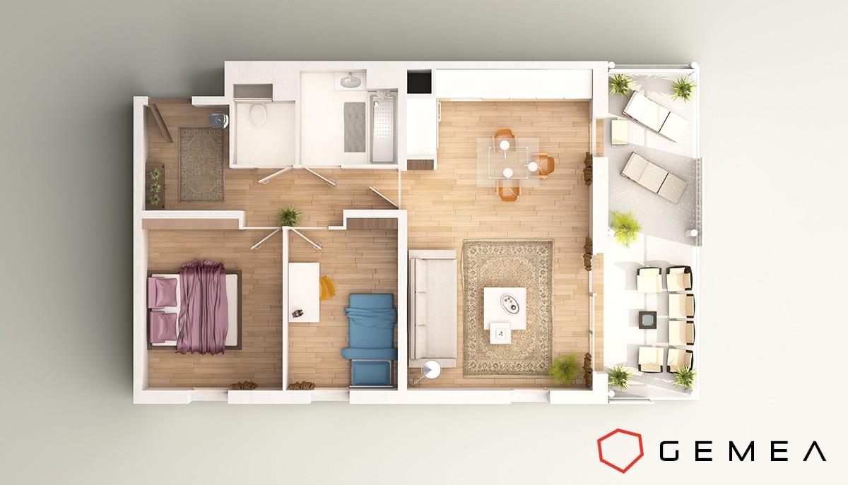 One Bedroom Apartment Designs