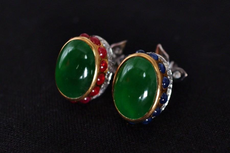 Gem Gardener, art deco jade earrings, art deco jade jewelry, jade statement earrings, antique jade and diamond earrings, jade earrings singapore, jade jewellery singapore, art deco jade jewellery, antique Chinese jade jewellery