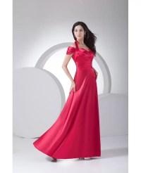 Fuschia Halter Long Pleated Satin Bridesmaid Dress #OP4078 ...