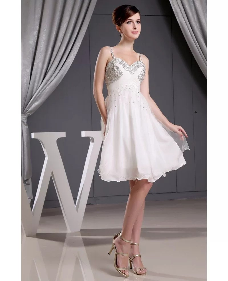 Aline Sweetheart Short Tulle Wedding Dress With Beading OP3024 1121  GemGracecom
