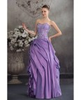 Purple and Silver Wedding Dress