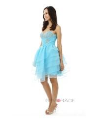 A-line Sweetheart Knee-length Prom Dress #YH0078 $134 ...