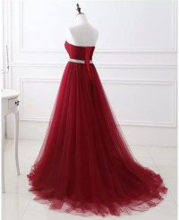 Formal Long Tulle Prom Dress with Beaded Waist #LG0317 ...