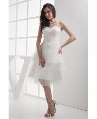 Reception Cheap Short Wedding Dresses Layered Puffy White ...