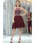 Short Burgundy Prom Dress