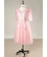 Plus Size Pink Lace And Tulle Short Formal Occasion Dress ...