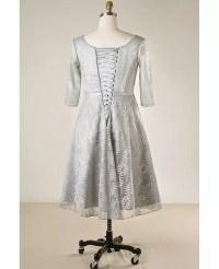 Plus Size Elegant Dusty Grey Lace Short Formal Party Dress ...
