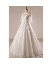 Gorgeous Plus Size Ivory Leaf Lace Wedding Dress With