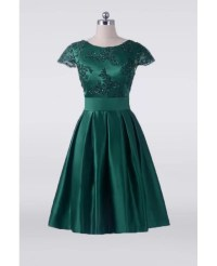 Vintage Emerald Green Short Mother Of The Bride Dress With