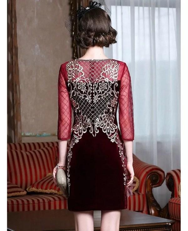 Velvet Wedding Dress Guest