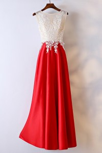 White And Red Lace Long Formal Dress For Women #MYX18176 ...