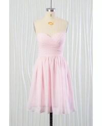 Simple Blush Pink Beach Bridesmaid Dress Short In Chiffon ...