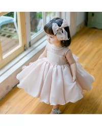 Blush Pink Cute Puffy Flower Girl Dress Baby Toddler ...