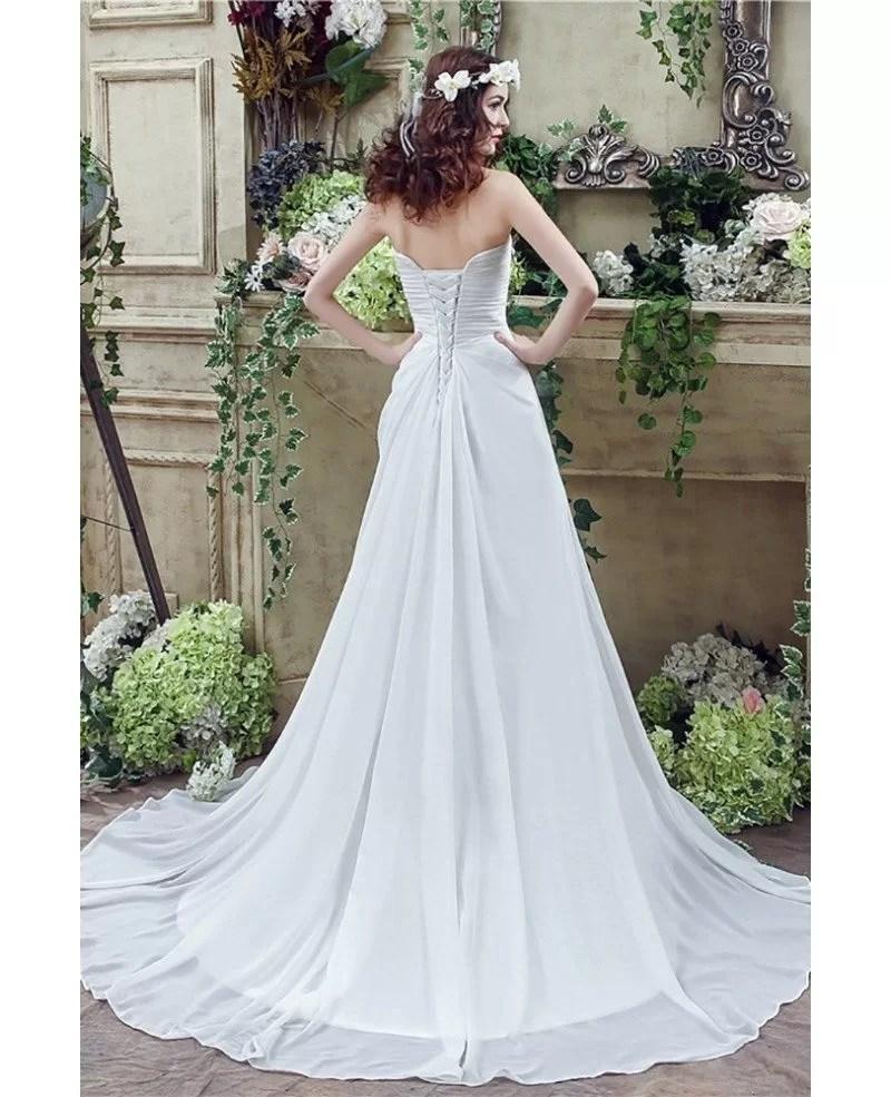Simple Chiffon Summer Bridal Dress For Destination Weddings H76023  GemGracecom