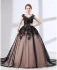 Black Ball Gown Prom Dress