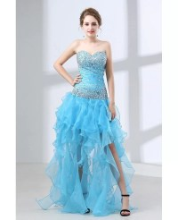 Different Long Slit Pool Prom Dress With Beading Top 2018 ...
