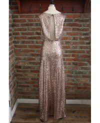 Cheap Formal Gold Sparkly Bridesmaid Dresses Long Sequin ...