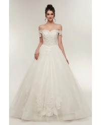 Unqiue Lace Princess Wedding Dress with Off The Shoulder ...
