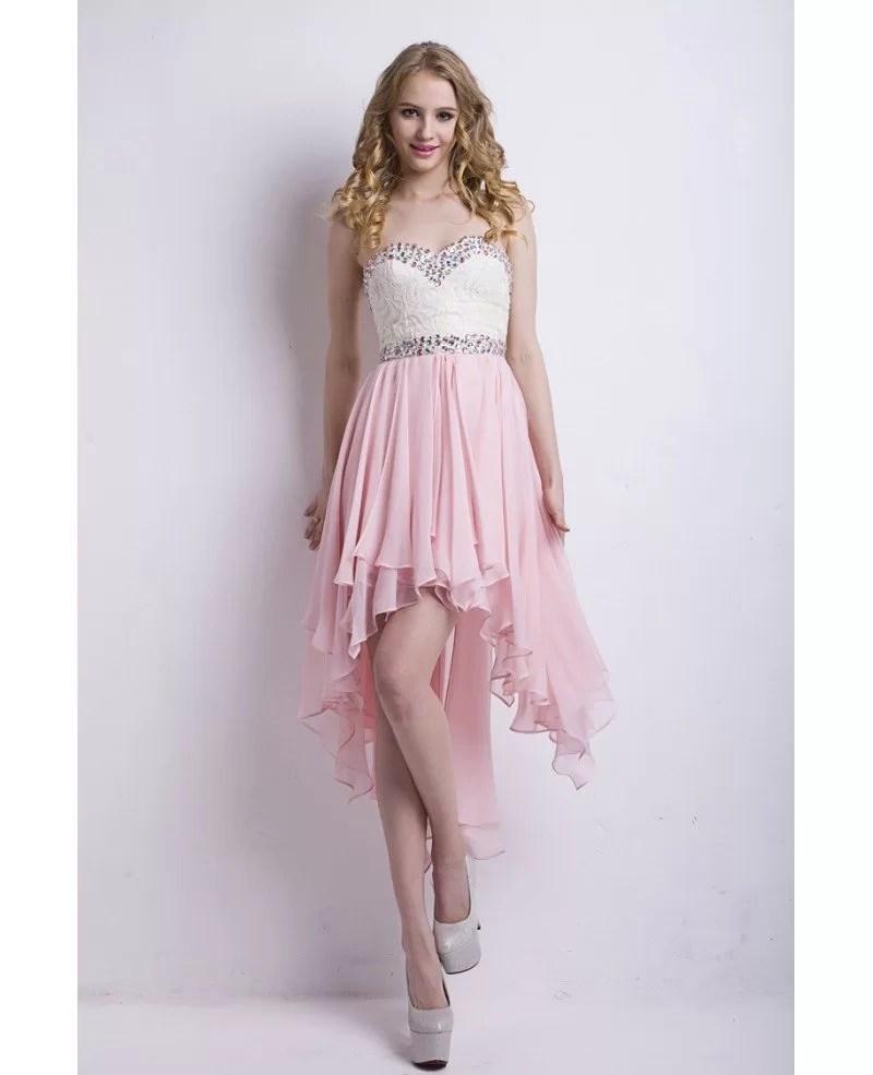 Sexy Sweetheart Asymmetrical Chiffon Porm Dress With