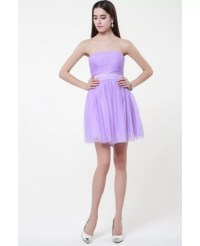 Simple Chiffon Lilac Chiffon Short Bridesmaid Dresses # ...