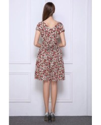 Summer Stylish A-Line Floral Print Short Wedding Guest ...