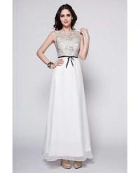 Elegant Summer Long White Lace Top Dress for Wedding # ...