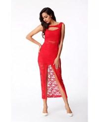 Sexy Sheath Lace Slit Dress -GemGrace