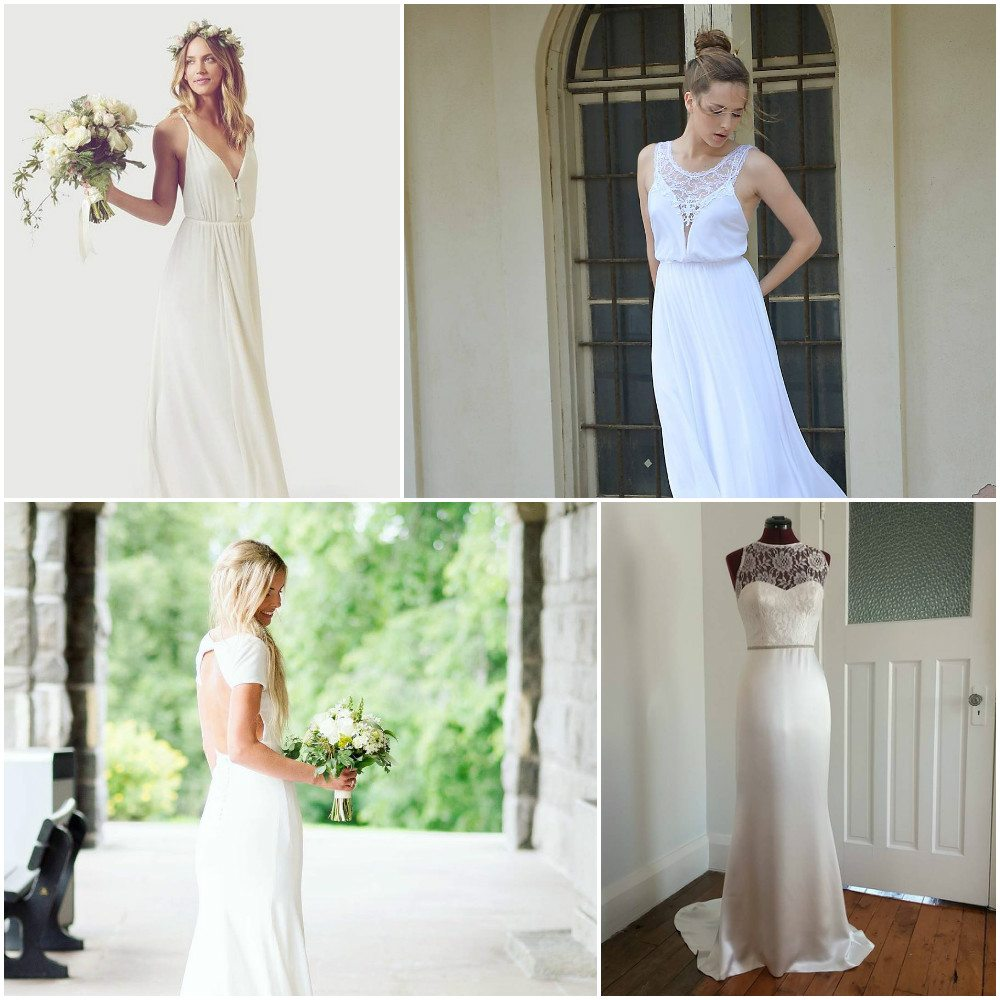 bridal dresses simple