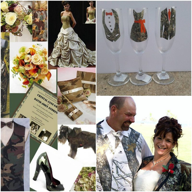 camo wedding theme