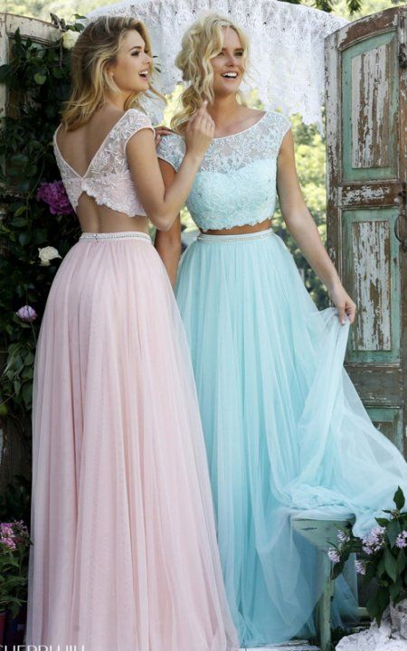 two-piece prom dress 2016