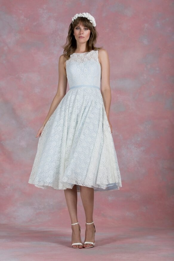 Top 45 Tealength Wedding Dress with Color on Pinterest