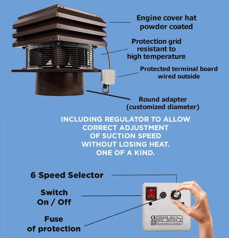 fireplace fan extractor