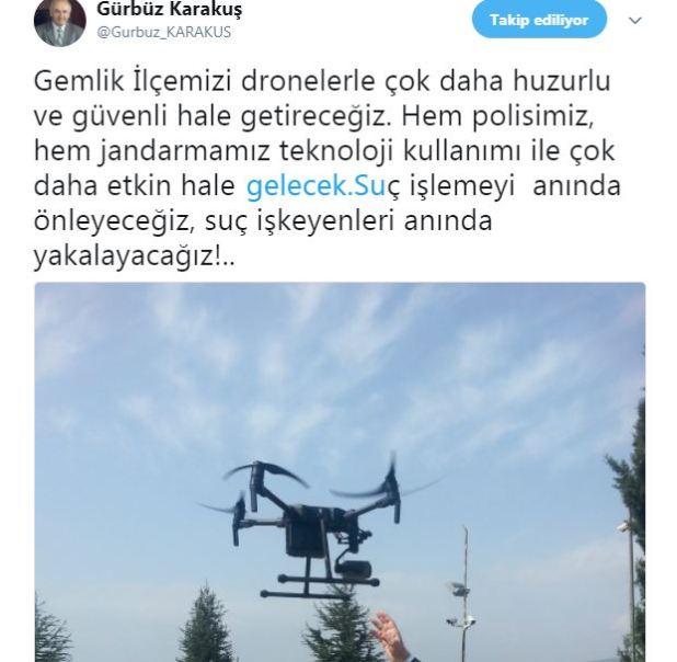 dron-gemlik-kaymakam Gemlik Dronlar'la izlenecek huzur ve asayiş gelecek