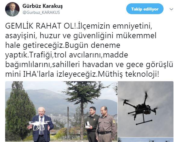 gemlik-kaymakami-gurbuz-karakus Gemlik Dronlar'la izlenecek huzur ve asayiş gelecek