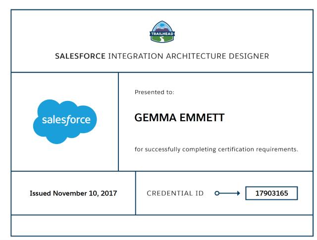 Integration Architecture Designer Certificate