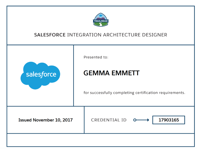 Integration Architecture Designer Certificate