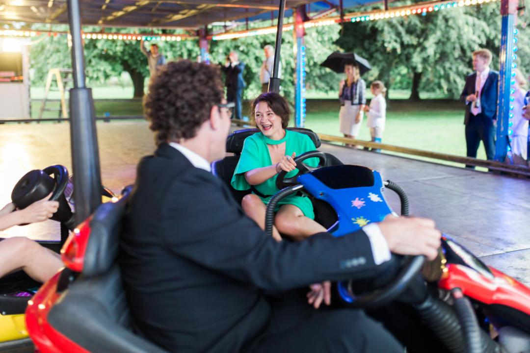 wedding bumper cars
