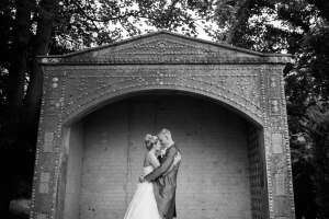 Down Hall black and white wedding photos