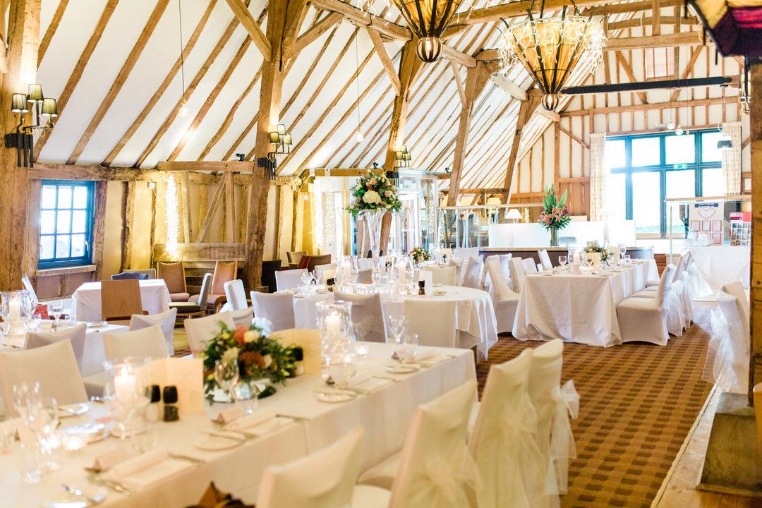 reception at barn brasserie