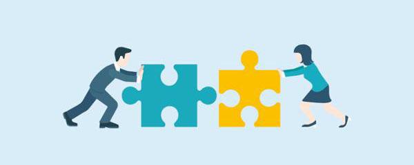 Symbole de la médiation par un puzzle
