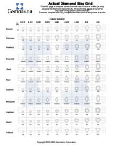 Diamond comparison chart also carat weight rh gemnation
