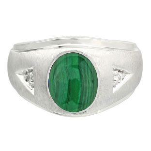 Men's Malachite Rings from Gemologica, A Fine Online