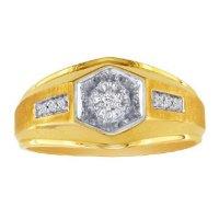 Mens Promise Ring - Yellow Gold Diamond Promise Men's Ring ...