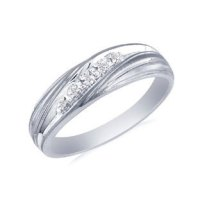 Mens White Gold Diamond Promise Ring - Gemologica, A Fine ...