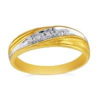 Mens Yellow Gold Diamond Promise Ring - Gemologica, A Fine ...