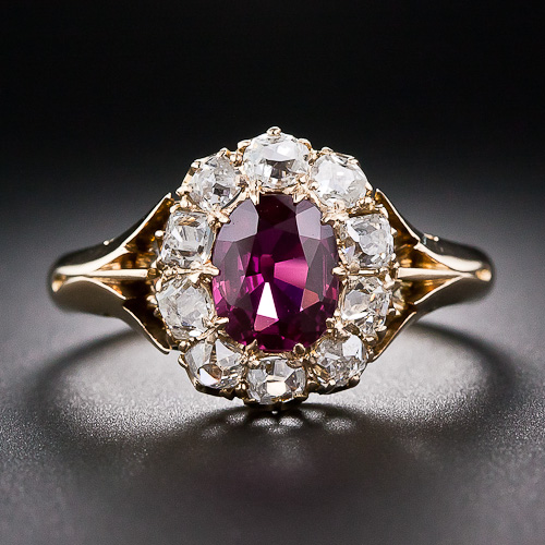 Ruby Diamond Ring In 14k Yellow Gold From Gemone Diamonds