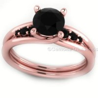Black Diamond Rose Gold Ring With Black Diamonds With