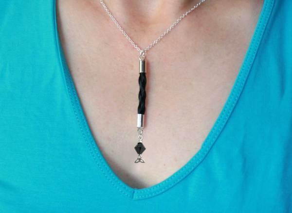 Trinity horse hair necklace