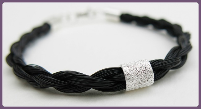 Gemosi Spirit horse hair bracelet with silver bead